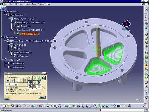 CATIA V5 3-Axis Surface Machining (SMG)
