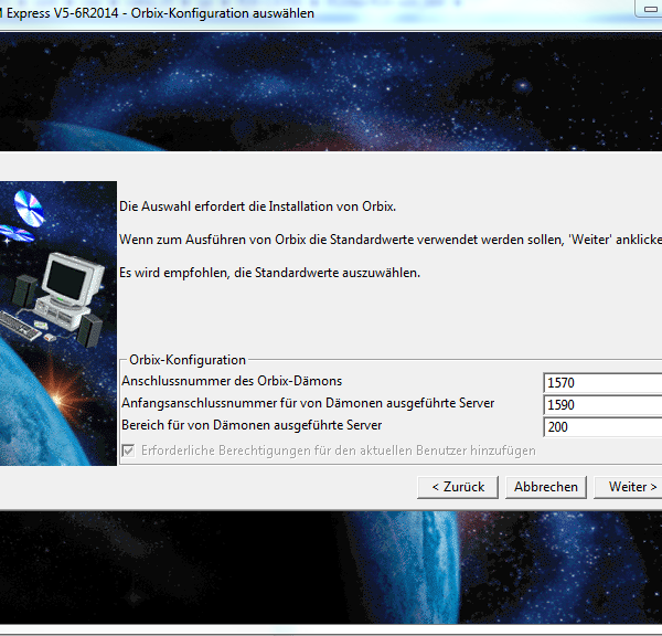 Installation CATIA GA-Stufe